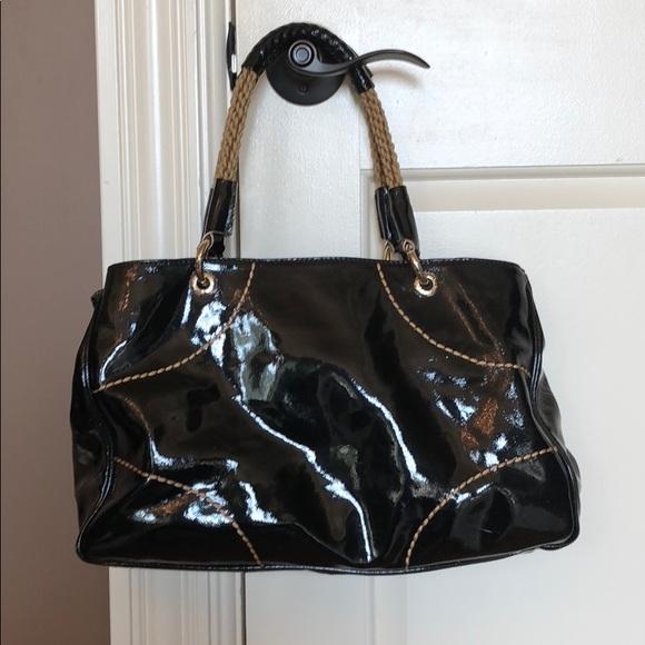6641d915be2 Gorgeous Plinio Visona Black Patent Leather Purse